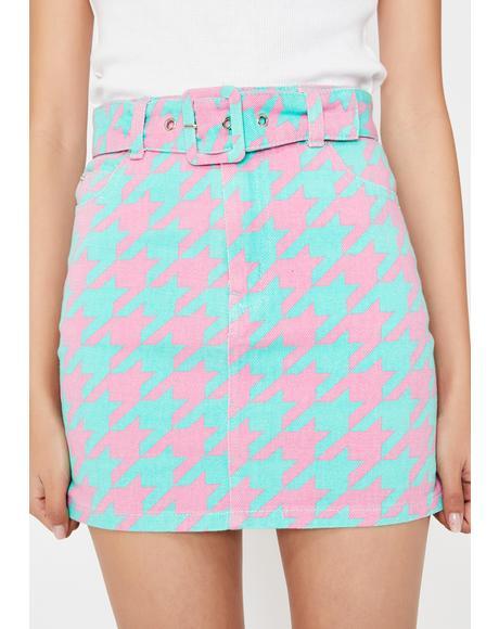 Cotton Candy Ecstasy Denim Skirt