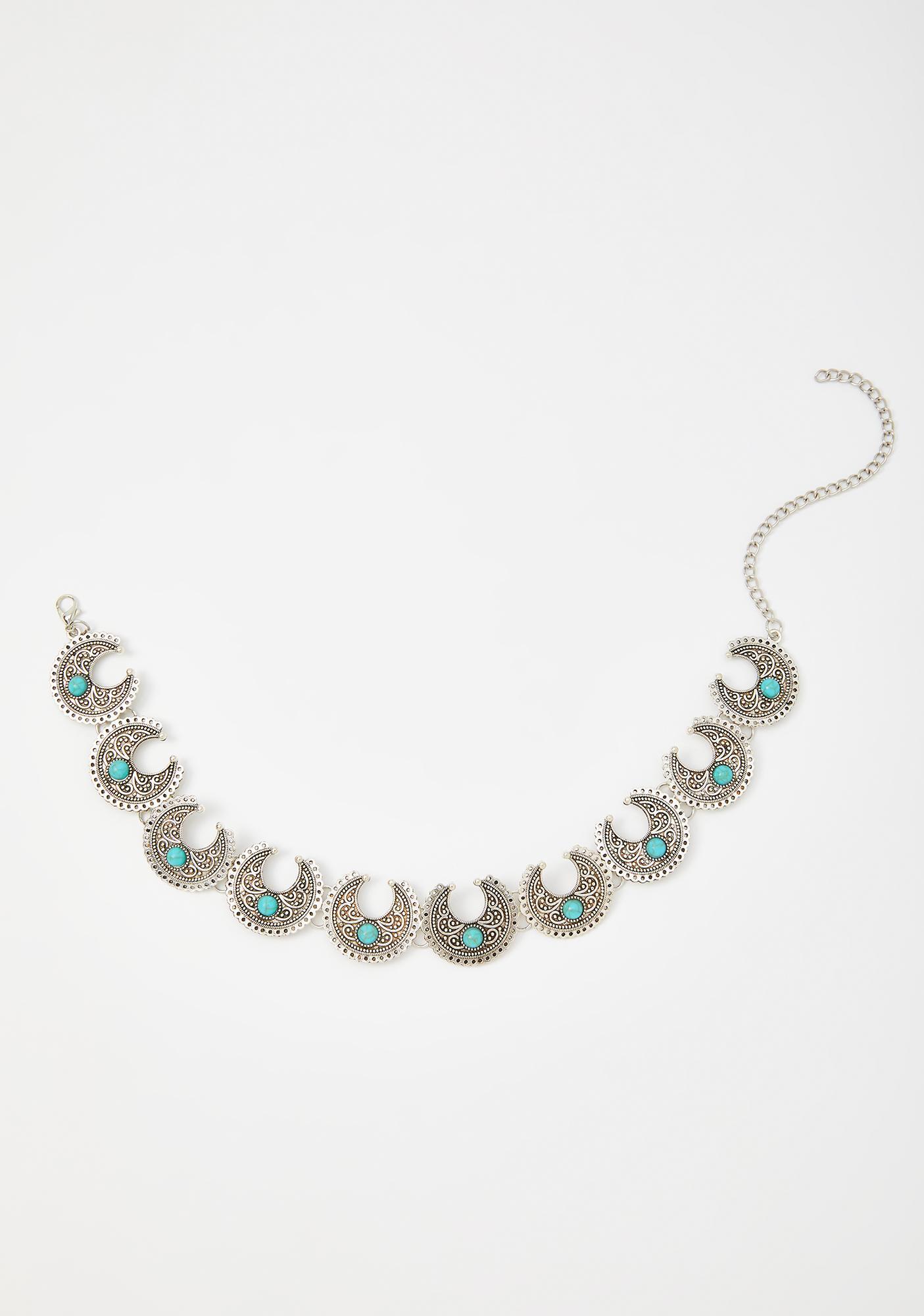 Lunar Rising Turquoise Choker