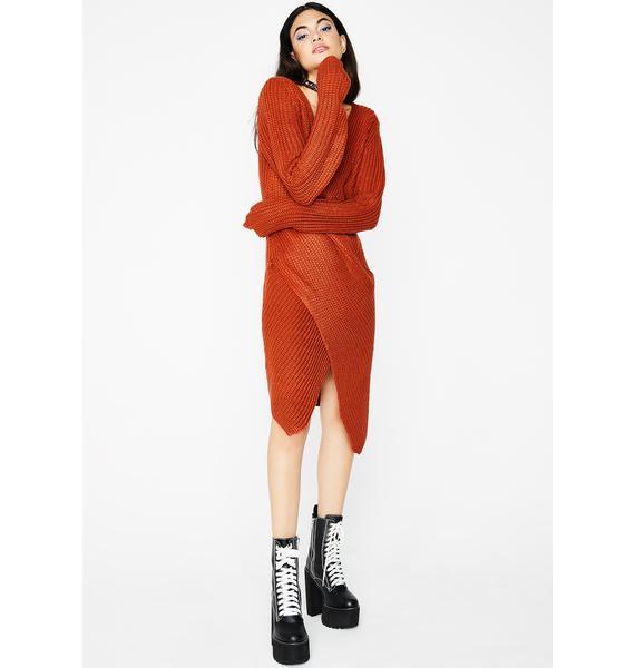 Under Wraps Knit Dress