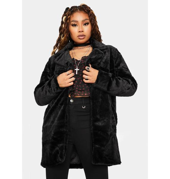 Night Seen Canoodling Faux Fur Jacket