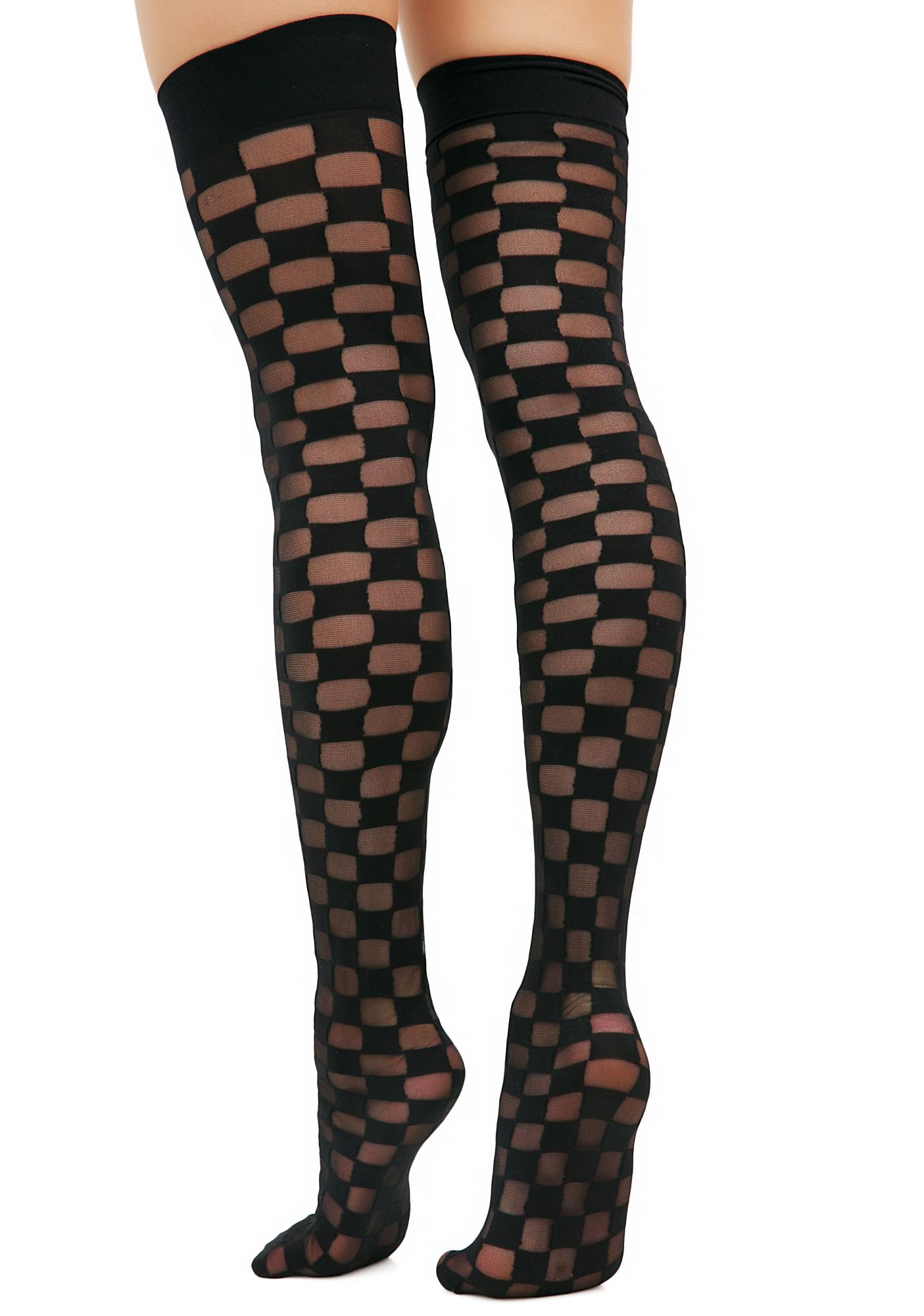 Checked Out Thigh Highs