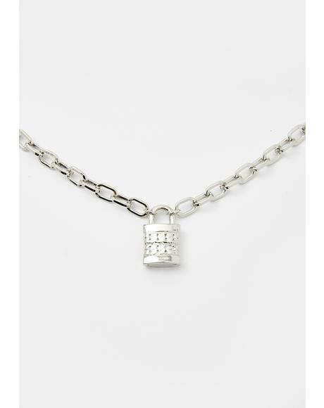 Locked Down Lover Chain Necklace