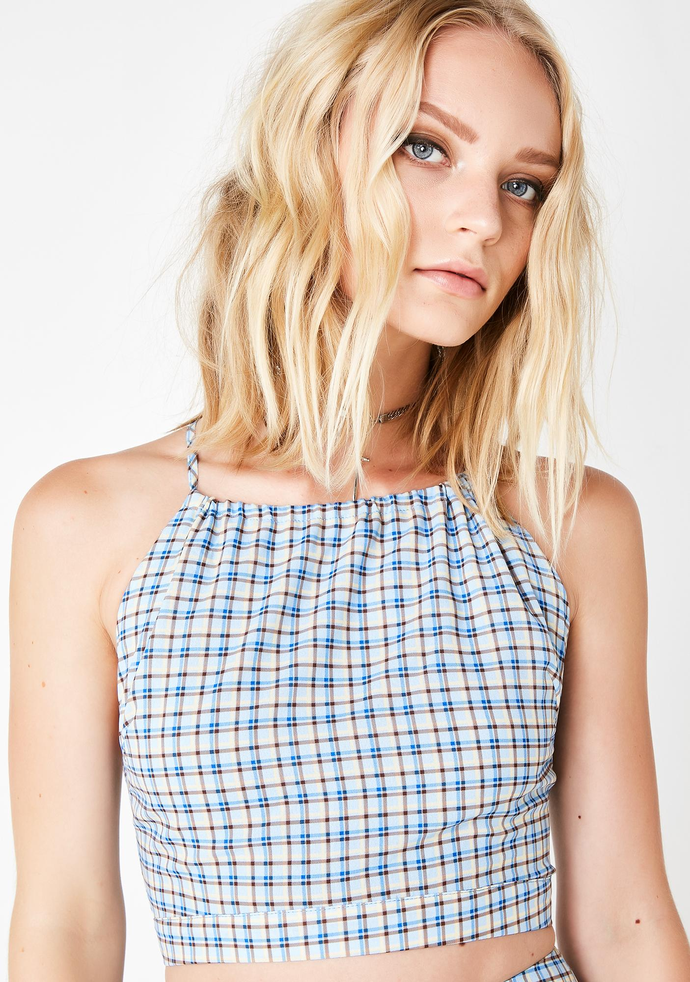 Sky As If Plaid Top