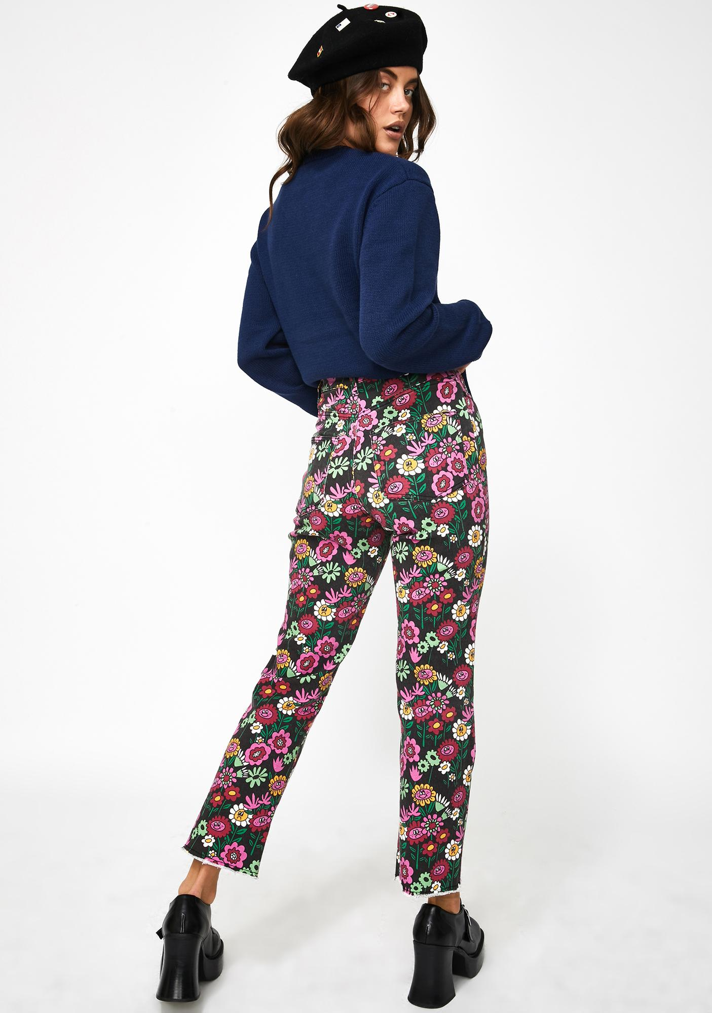 Lazy Oaf Mixed Bunch Flower Jeans