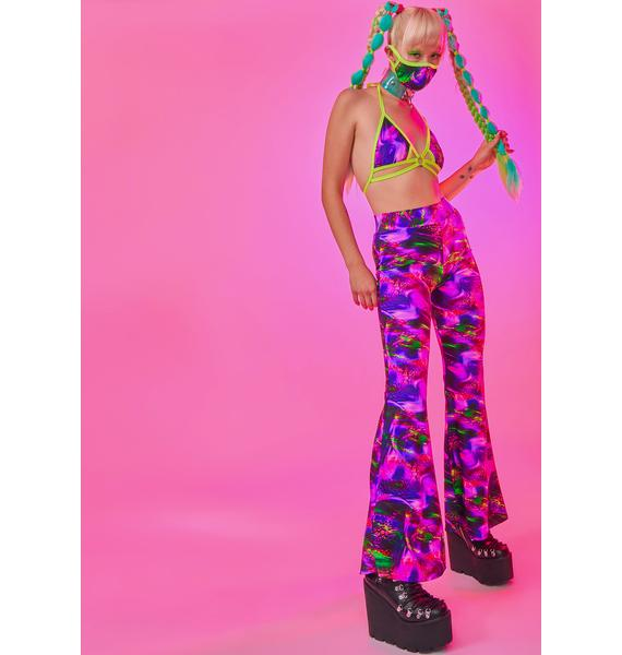 Rolita Rave Couture Flirt With Me Bell Bottoms