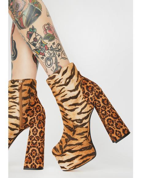 Animal Print Zimia Boots