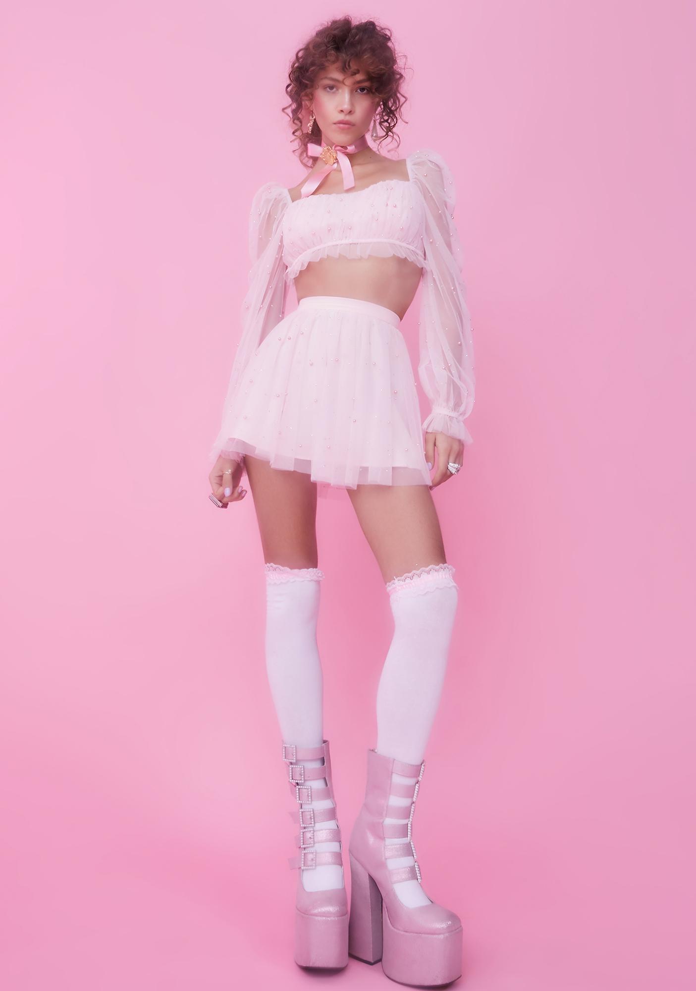 Sugar Thrillz Fairy Glam Mother Crop Top