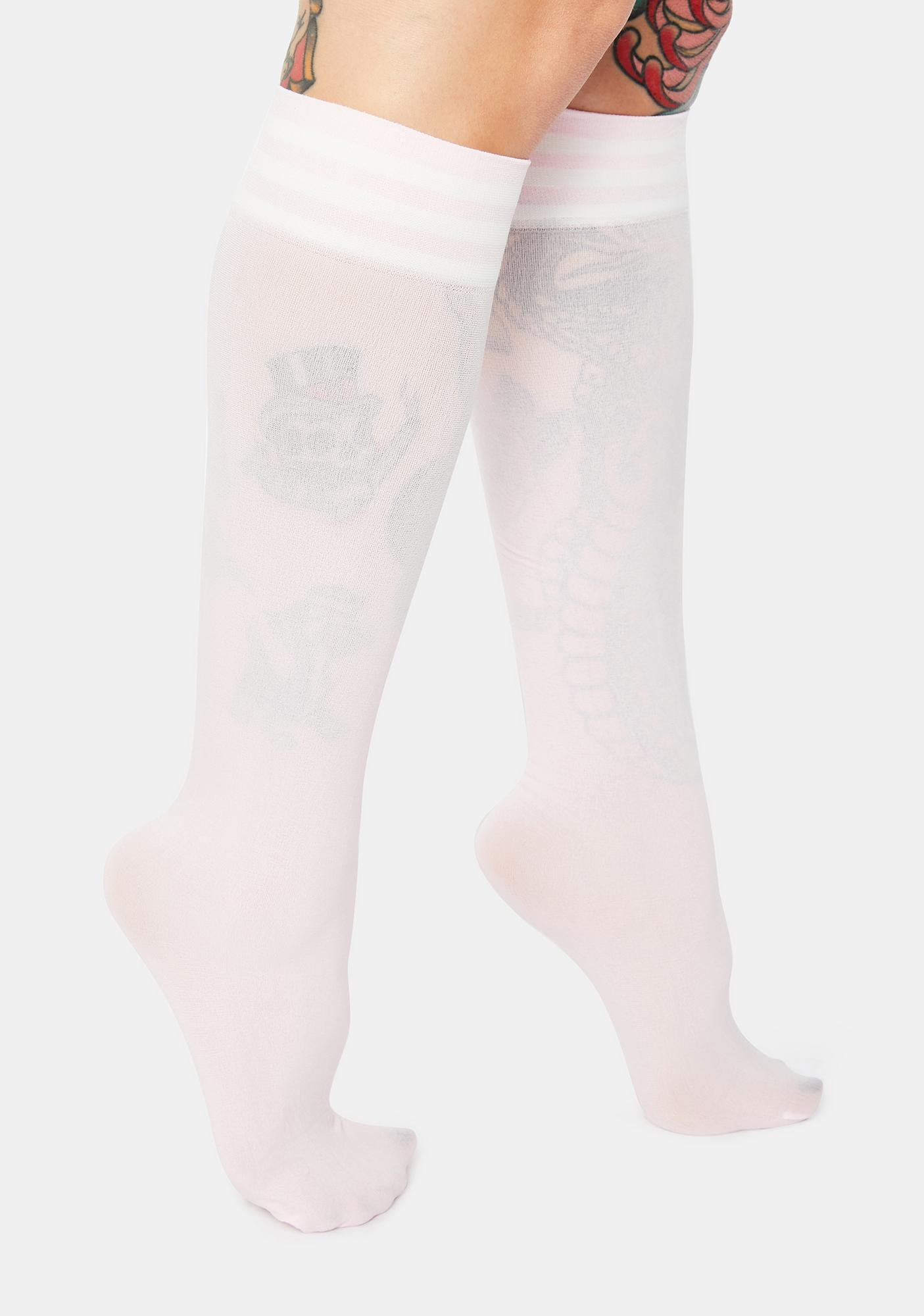 Sweet Sporty Sass Stripe Knee High Socks