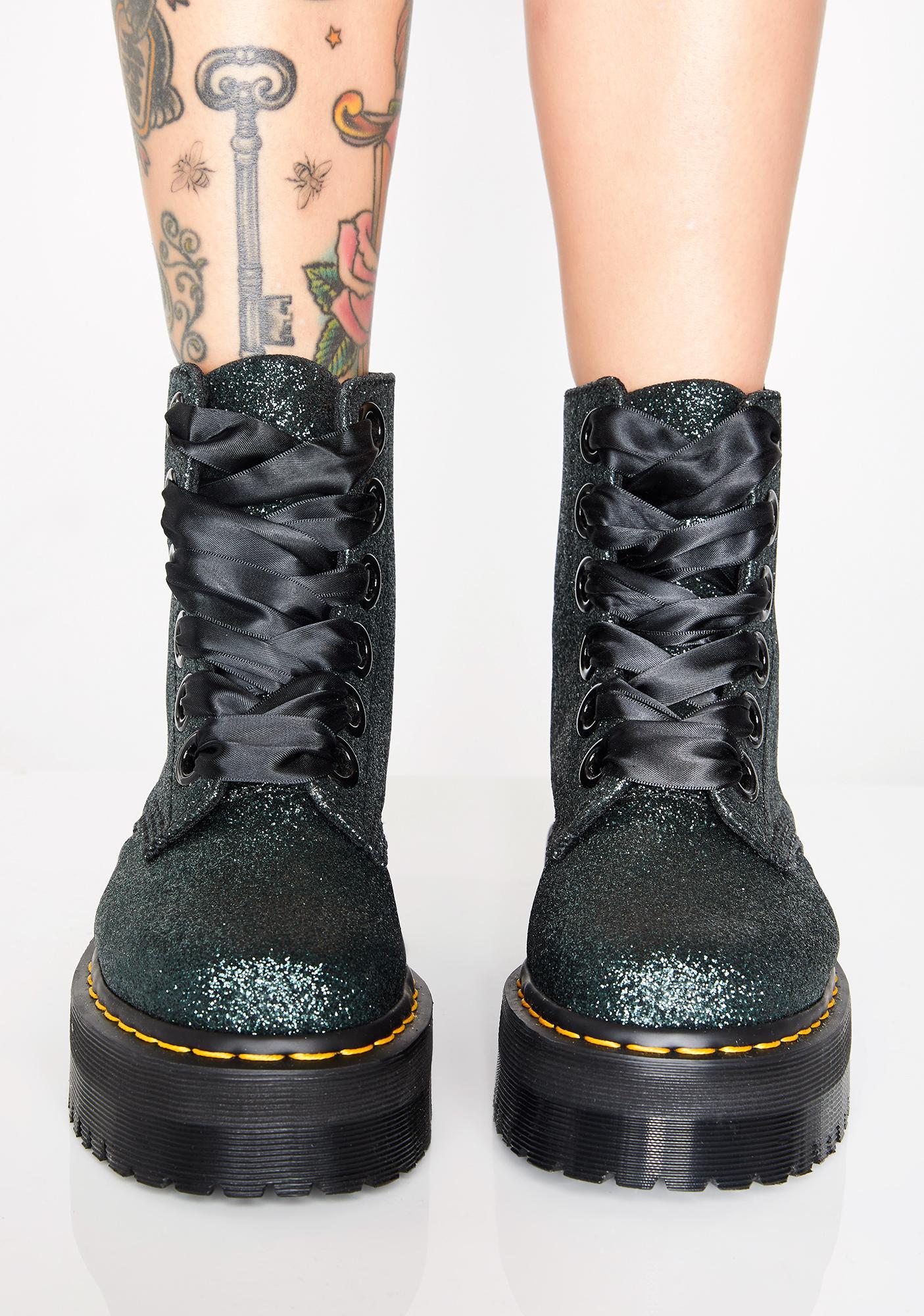 Dr. Martens Emerald Molly Glitter Boots