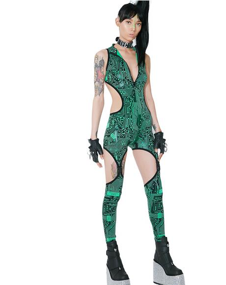 Circuit Trippin' Cut-Out Catsuit