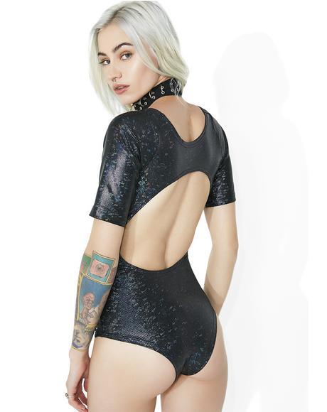 Nightmare Moon Lace-Up Bodysuit