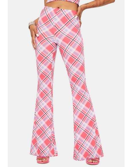 Oh Fer Sure Plaid Flare Pants