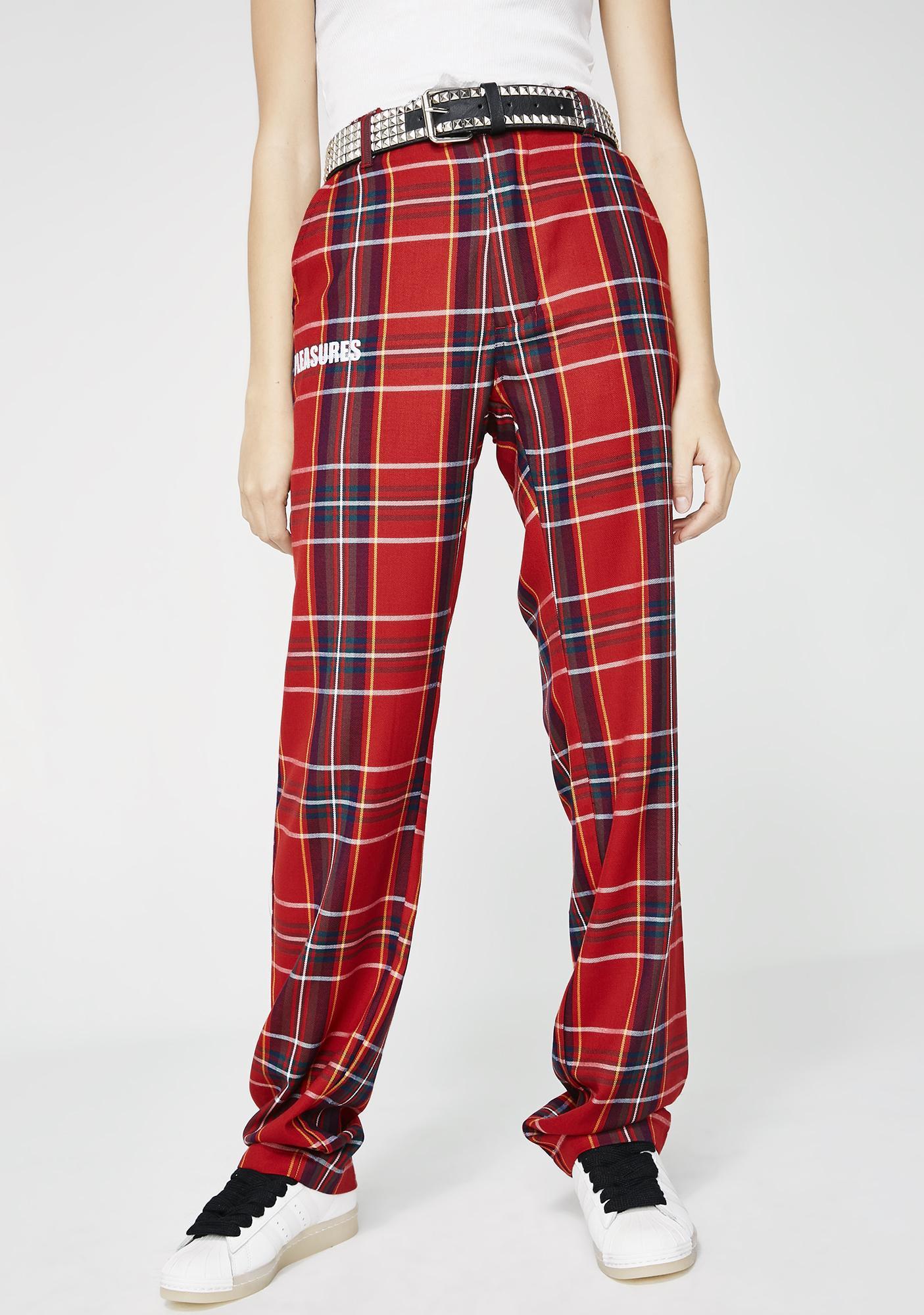 Pleasures Rudeboy Plaid Pants