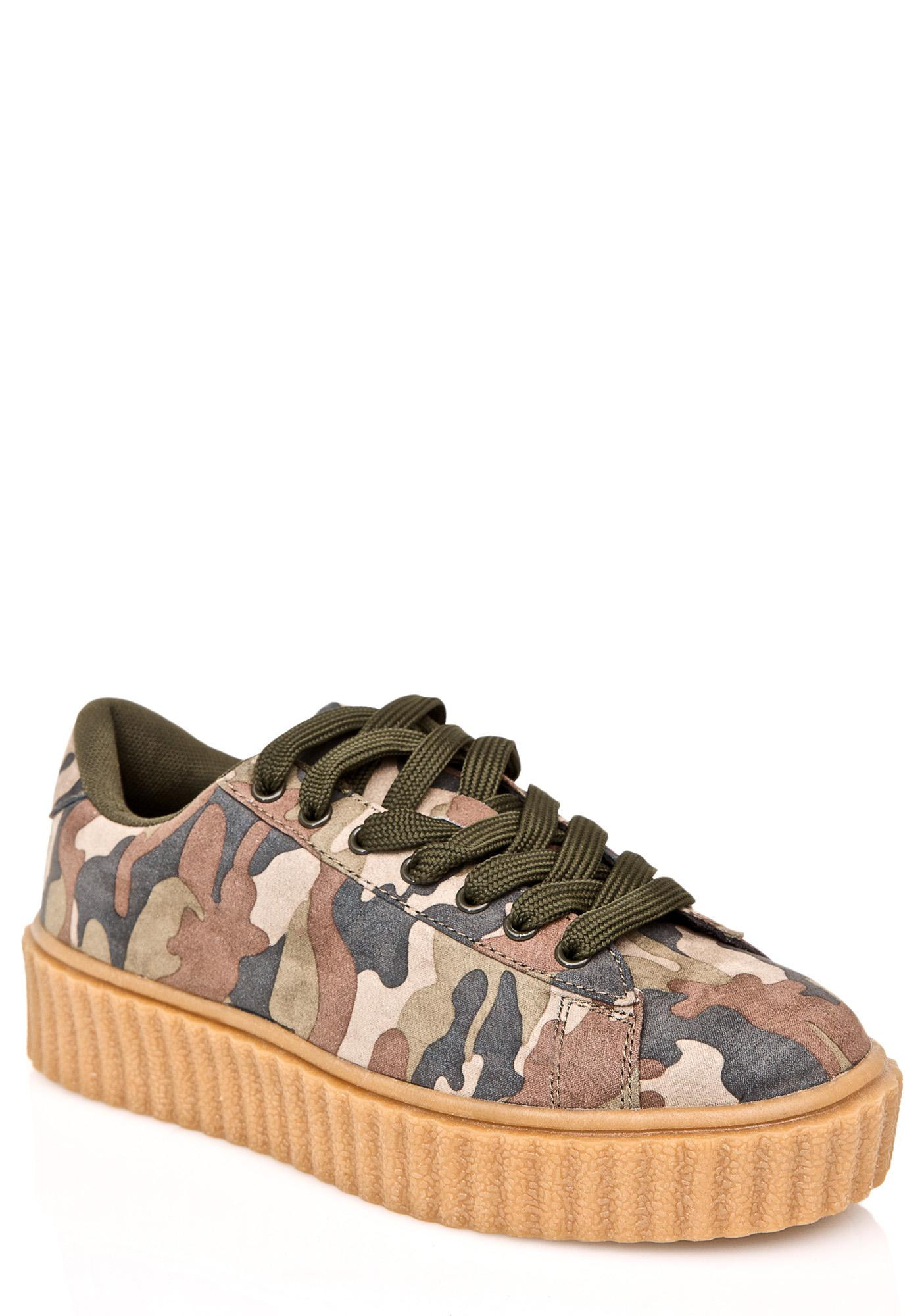 Camo Caught Me Creeper Sneakers