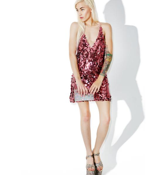 Motel Metallic Rose Finn Dress