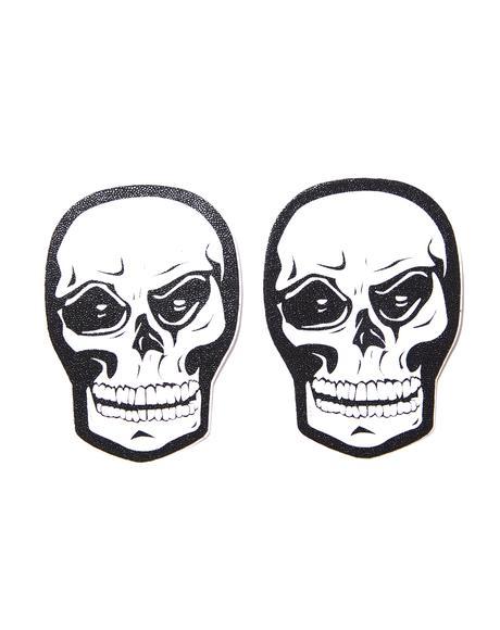 Skull Face Pasties
