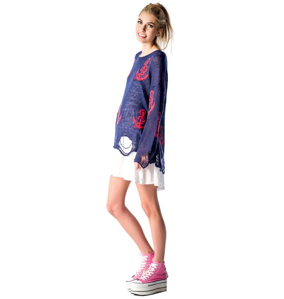 Wildfox Couture Shipwrecked Lennon Sweater