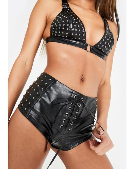 Beyond The Bull Studded Shorts