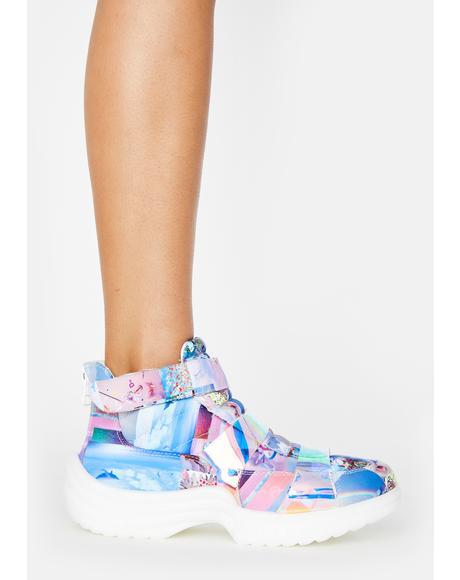 Recycled Plastic Flyh Hi Sneakers