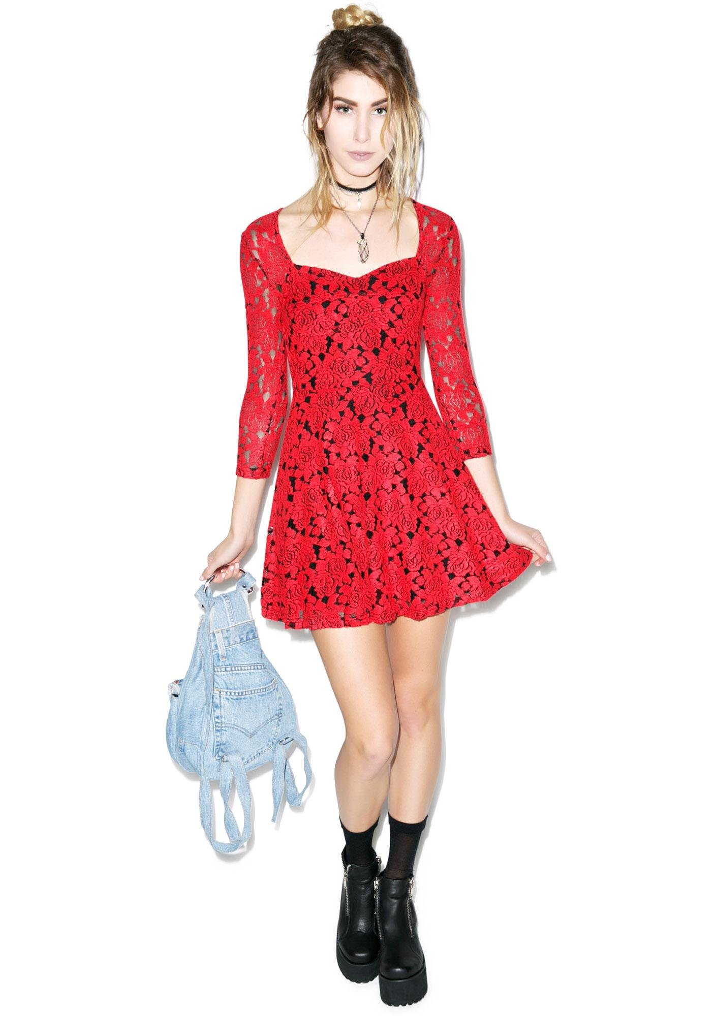 Mink Pink Little Red Dress