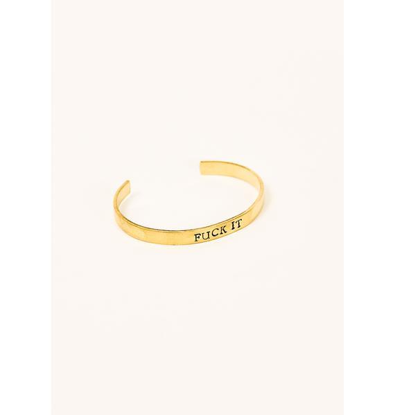 Desert Moon F It Stamped Cuff Bracelet