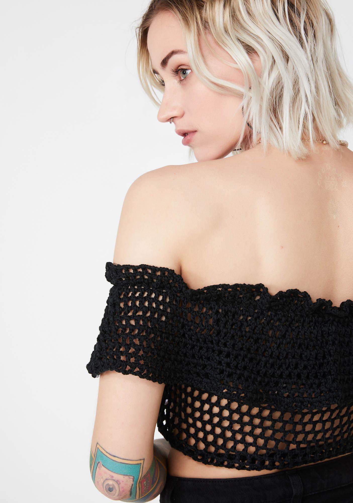 Savage Sweetheart Crochet Top