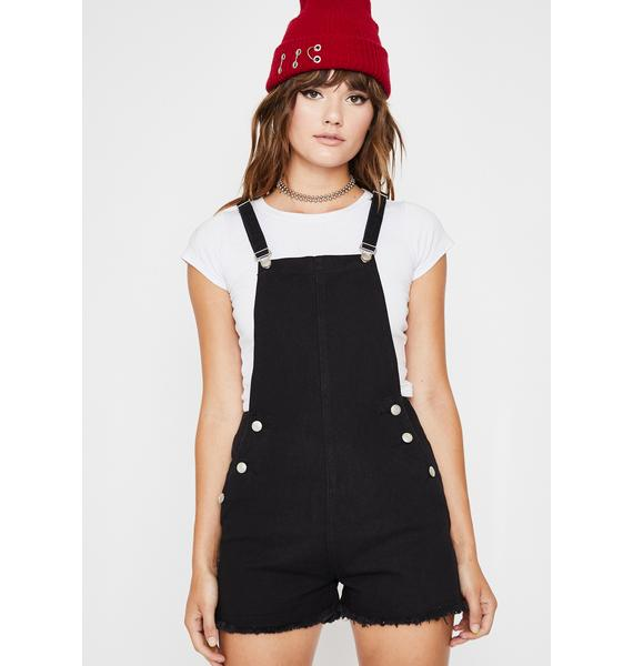 Midnight Misfit Mayhem Denim Shortalls