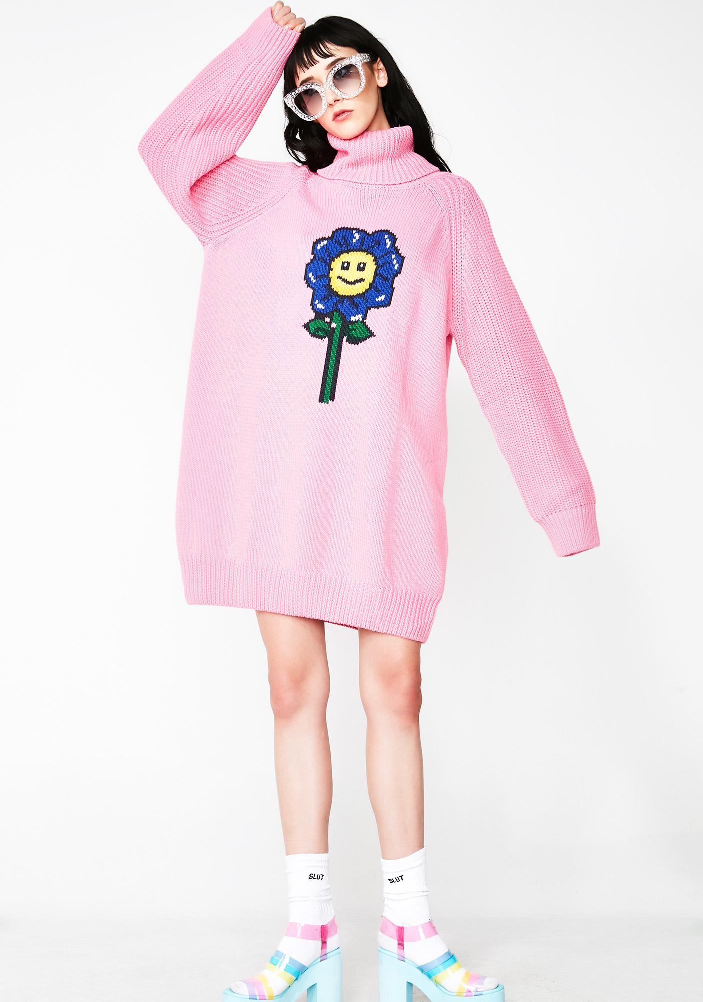 093148b29a ... Lazy Oaf Flower Power Sweater Dress