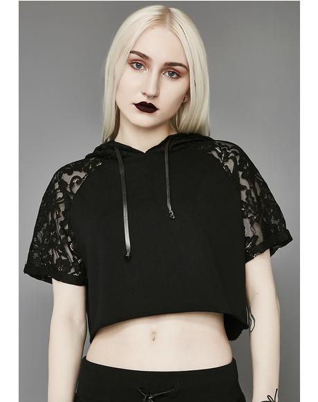 Love Knot Lace Crop Jersey