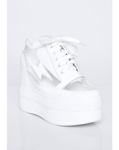 Crystal Shockwave Platform Sneakers