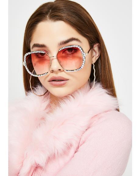 Prissy Diva Rhinestone Sunglasses