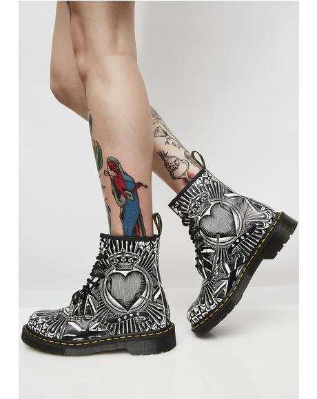 1460 8 Eye Playing Card Boots