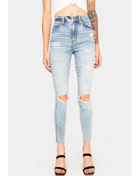 Money Maker Distressed Jeans