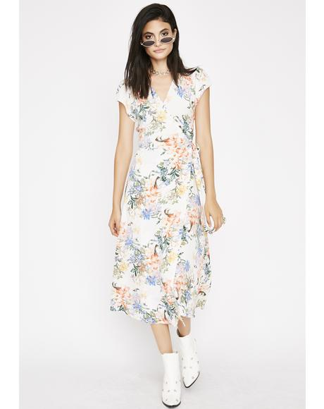 Botanic Babe Wrap Dress