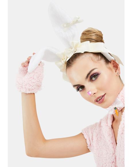 Sunny Fuzzy Wuzzy Bunny Ear Headband