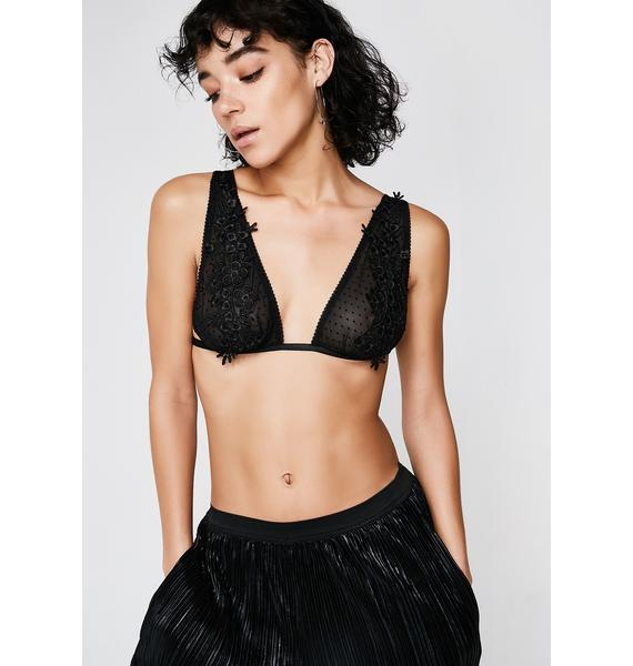 Next to Nothing  Cosmo Plunge Applique Bralette