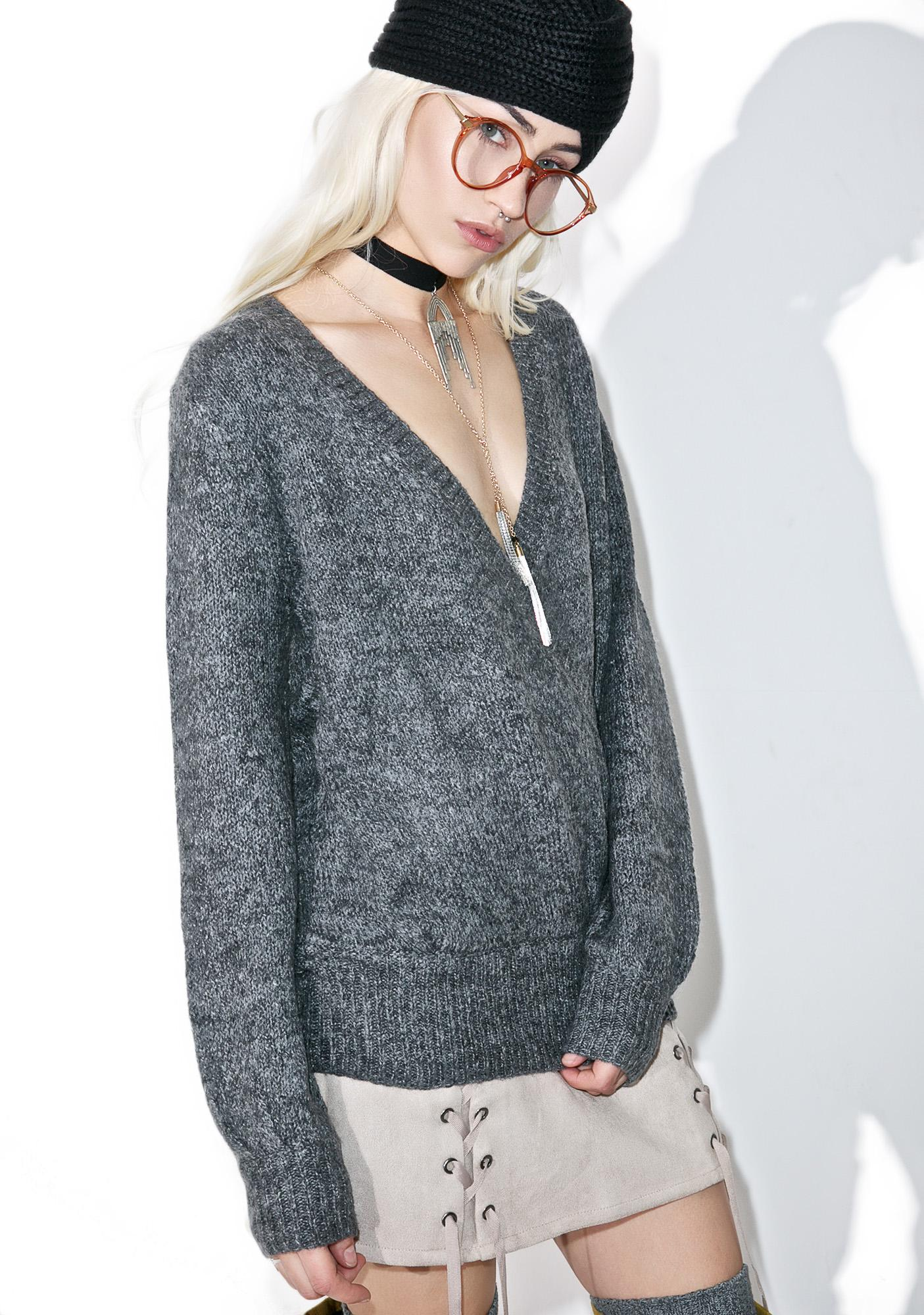 Aria Surplice Sweater