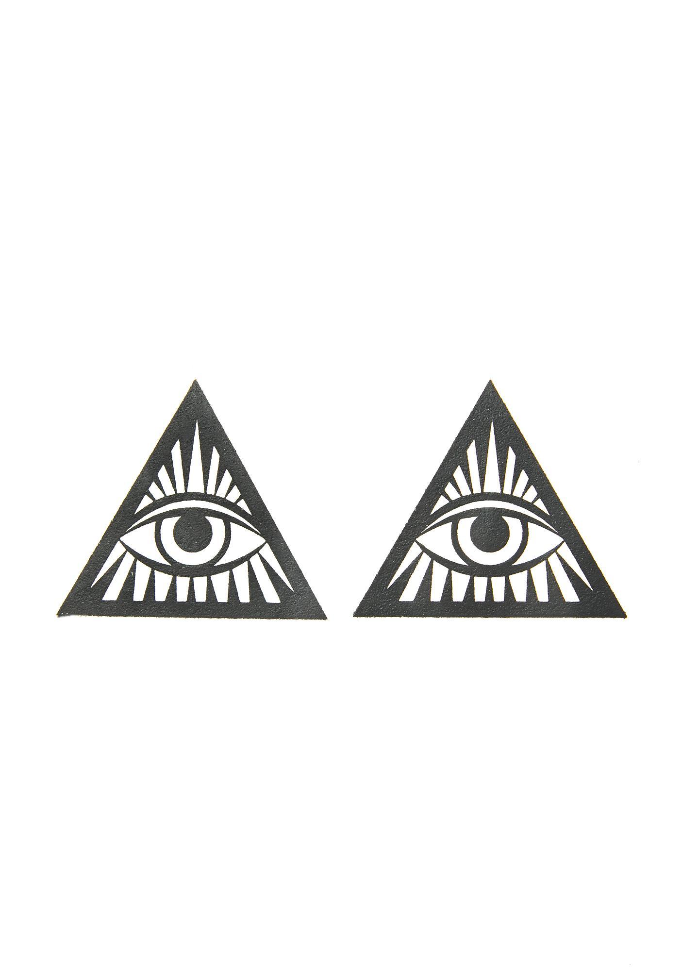 Neva Nude Third Eye Glitter Triangle Pasties