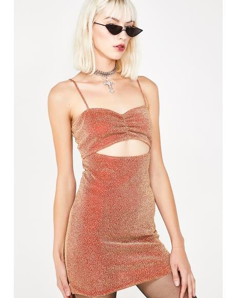 Rita Lurex Cutout Mini Dress