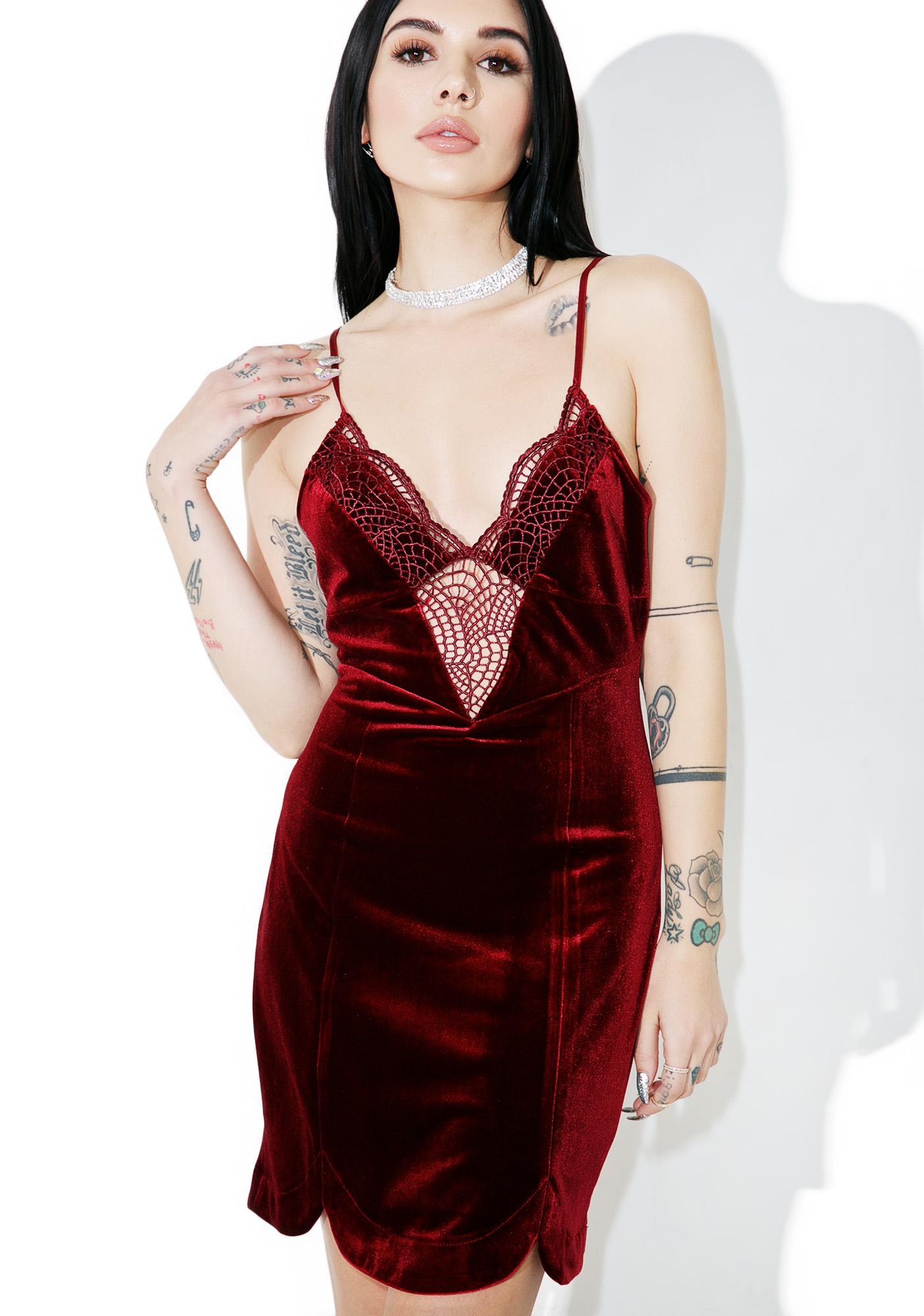 Scarlet Velvet Dress