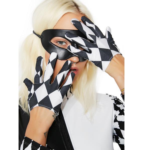Harlequin Cropped Gloves