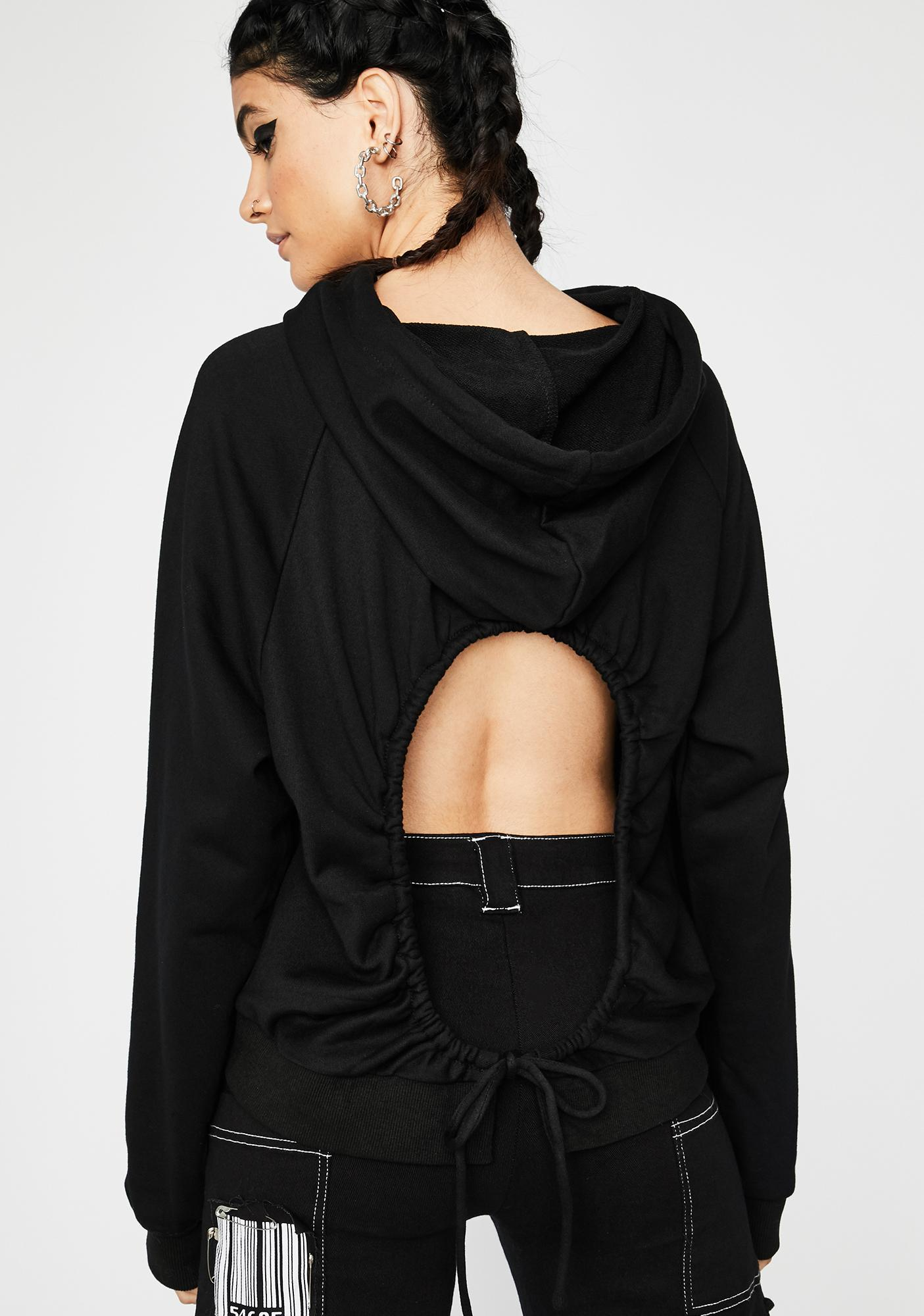 Look Back At It Cut-Out Hoodie