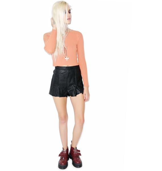 Mink Pink Heavens Devil PU Shorts