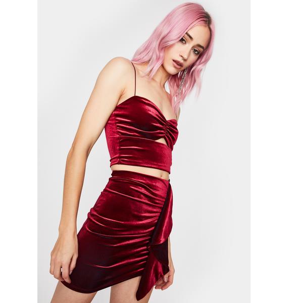Velvet Tears Mini Skirt