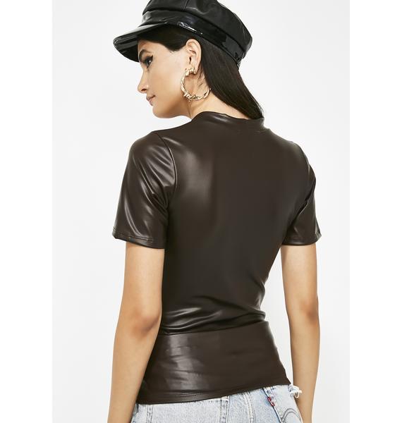Fashion Freak Leather Top