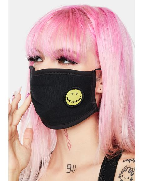 Go Fuck Yourself Smiley Face Mask