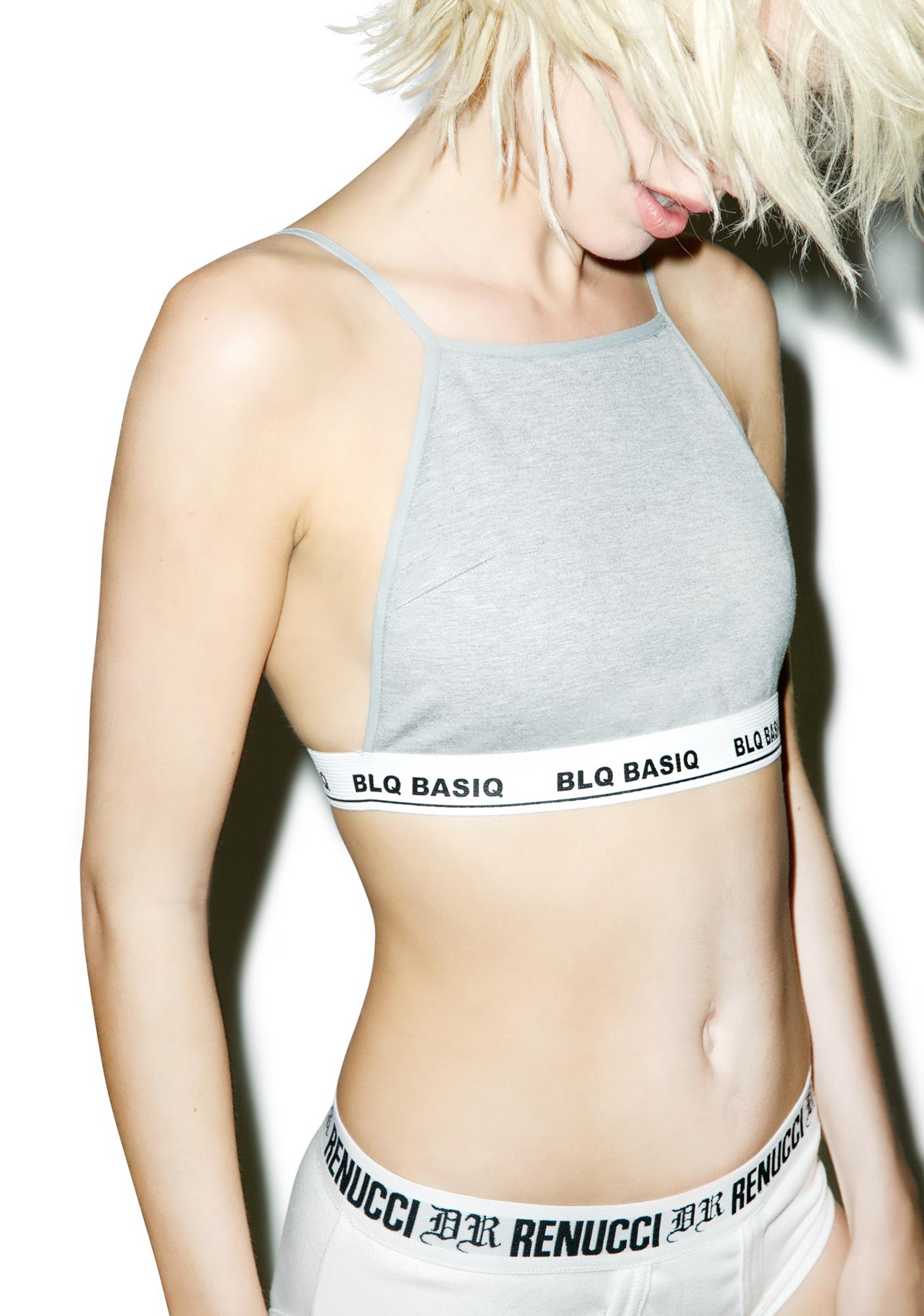BLQ BASIQ Ponte Crop Top
