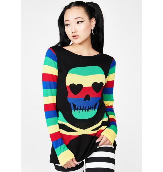 Jawbreaker Sweet Lovely Death Rainbow Sweater