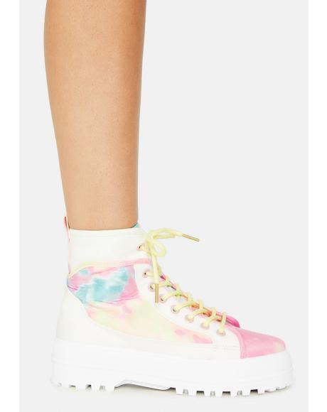 Bring In The Beat Tie Dye Boots