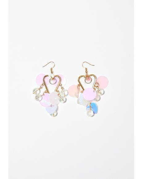 Fairy Tale Fantasy Heart Earrings